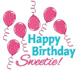 Happy Birthday Sweetie! embroidery design