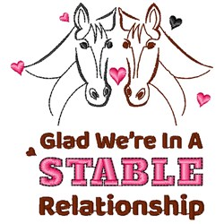 In A Stable Relationship embroidery design