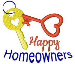 Happy Homeowners embroidery design