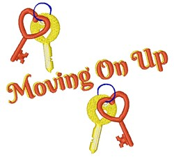 Moving On Up embroidery design