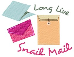 Long Live Snail Mail embroidery design
