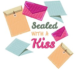 Sealed With A Kiss embroidery design