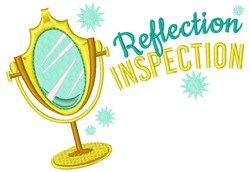 Reflection Inspection embroidery design