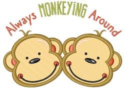 Always Monkeying Around embroidery design