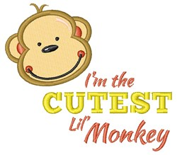 Cutest Lil Monkey embroidery design