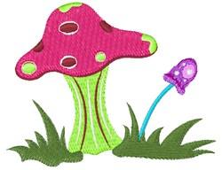 Garden Mushrooms embroidery design