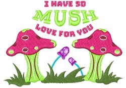 So Mush Love embroidery design