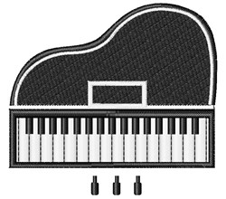 Grand Piano embroidery design
