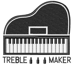 Treble Maker embroidery design