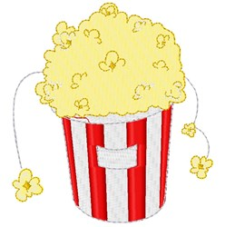 Buttered Popcorn embroidery design