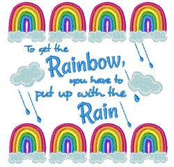 Get To The Rainbow embroidery design