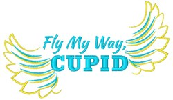 Fly My Way, Cupid embroidery design