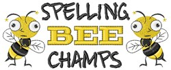 Spelling Bee Champs embroidery design