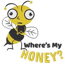 Wheres My Honey embroidery design