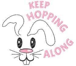 Keep Hopping Along embroidery design