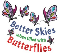 Filled With Butterflies embroidery design