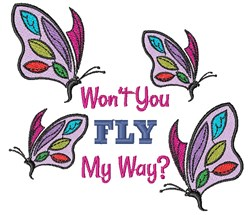 Fly My Way embroidery design