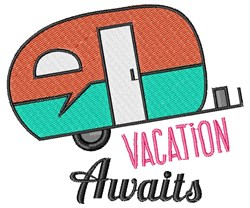 Vacation Awaits embroidery design