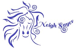 Neigh Sayer embroidery design