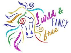 Wild & Fancy Free embroidery design
