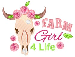 Farm Girl embroidery design