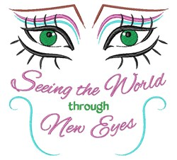 New Eyes embroidery design