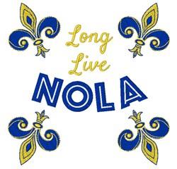 Long Live NOLA embroidery design