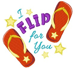 Flip For You embroidery design