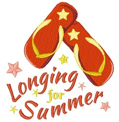 Longing For Summer embroidery design