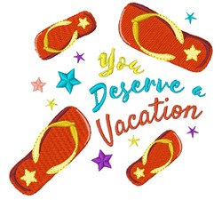 Deserve A Vacation embroidery design