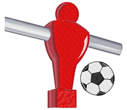 Foosball embroidery design