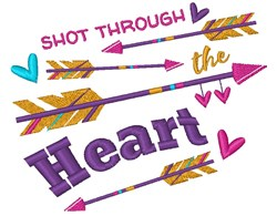 Through The Heart embroidery design