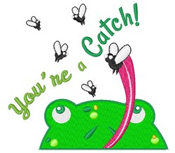 Youre A Catch embroidery design