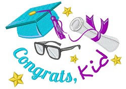 Congrats Kid embroidery design