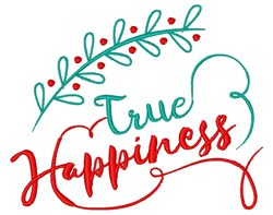 True Happiness embroidery design