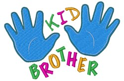Kid Brother embroidery design