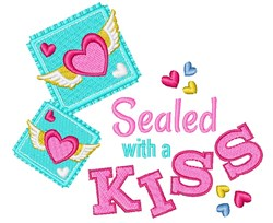 Sealed With Kiss embroidery design