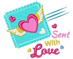 Sent With Love embroidery design