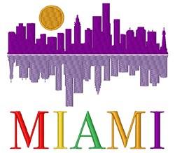 Miami embroidery design