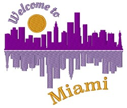 Welcome To Miami embroidery design