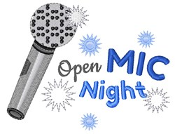 Open Mic Night embroidery design