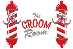 Groom Room embroidery design
