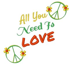 You Need Love embroidery design
