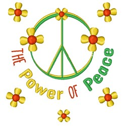 Power Of Peace embroidery design