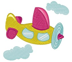 Toy Airplane embroidery design