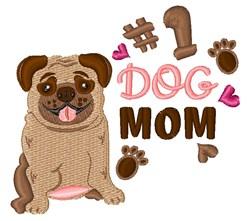 #1 Dog Mom embroidery design