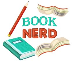 Book Nerd embroidery design