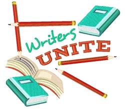 Writers Unite embroidery design