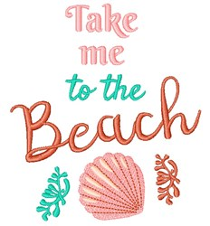 To The Beach embroidery design