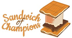 Sandwich Of Champions embroidery design
